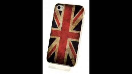 Silikonové pouzdro pro iPhone 4 a iPhone 4S vlajka UK