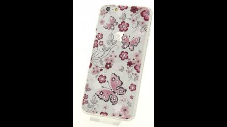 Plastový zadní kryt pro iPhone 4 a iPhone 4S květinové srdce
