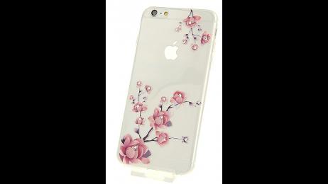 Silikonové pouzdro pro iPhone 6 Plus a iPhone 6S Plus vykvetlá růže