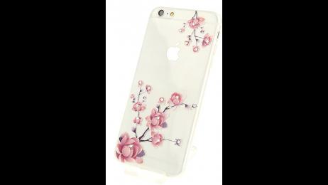 Plastový zadní kryt pro iPhone 6 Plus a iPhone 6S Plus vykvetlá růže