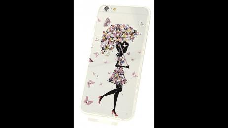 Silikonové pouzdro pro iPhone 6 Plus a iPhone 6S Plus motýlí dáma