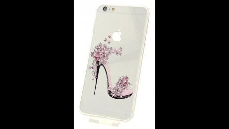 Plastový zadní kryt pro iPhone 6 Plus a iPhone 6S Plus květinová lodička