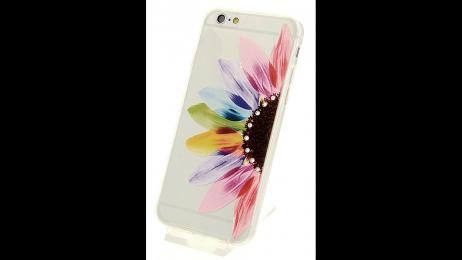 Silikonové pouzdro pro iPhone 6 Plus a iPhone 6S Plus květinová dáma