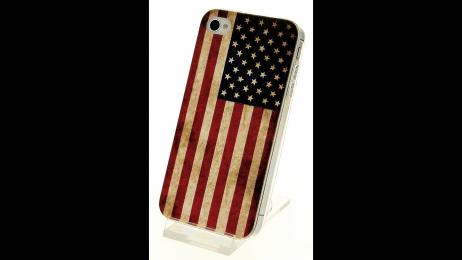 Silikonové pouzdro pro iPhone 4 a iPhone 4S vlajka US
