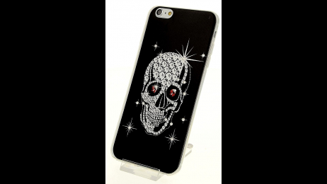 Silikonové pouzdro pro iPhone 6 Plus a iPhone 6S Plus lebka