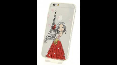 Silikonové pouzdro pro iPhone 6 a iPhone 6S Eiffelova věž II