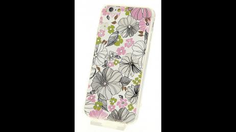 Silikonové pouzdro pro iPhone 6 a iPhone 6S květinové