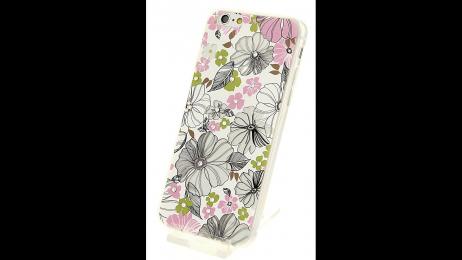 Plastový zadní kryt pro iPhone 6 a iPhone 6S květinové