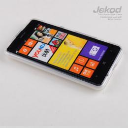 JEKOD TPU Ochranné Pouzdro White pro Nokia Lumia 625