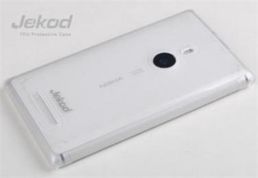 JEKOD TPU Ochranné Pouzdro White pro Nokia Lumia 925