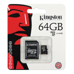 PAMĚŤOVÁ KARTA KINGSTON MICRO SDXC 64GB CLASS 10