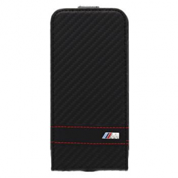 Pouzdro BMW M Collection Flip Carbon iPhone 6 černé