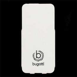Pouzdro Bugatti Geneva Flip Samsung G900 Galaxy S5 bílé