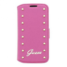 Pouzdro Guess Studded Folio Samsung i9195 S4mini růžové
