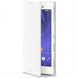 Pouzdro Sony SCR16 Style Cover Stand Xperia T3 bílé